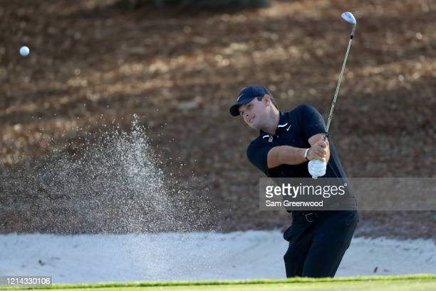 Patrick Reed plays a shot during a practice round prior to The PLAYERS Championship at the TPC Stadium course on March 11 2020 in Ponte Vedra Beach...