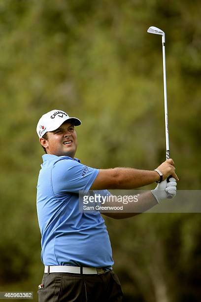 Patrick Reed plays a shot on the 17th hole during the first round of the Valspar Championship at Innisbrook Resort Copperhead Course on March 12 2015...