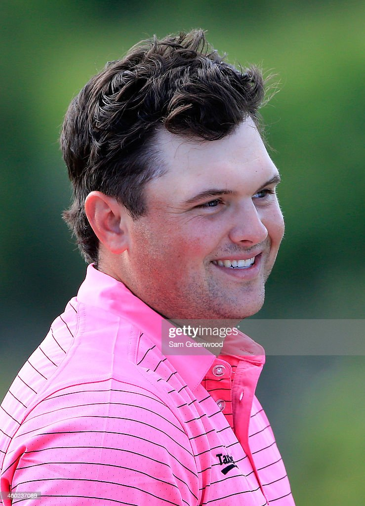 Patrick Reed smiles during the pro-am round prior to the Hyundai Tournament of Champions at the Plantation Course at Kapalua Golf Club on January 2, 2014 in Lahaina, Hawaii.