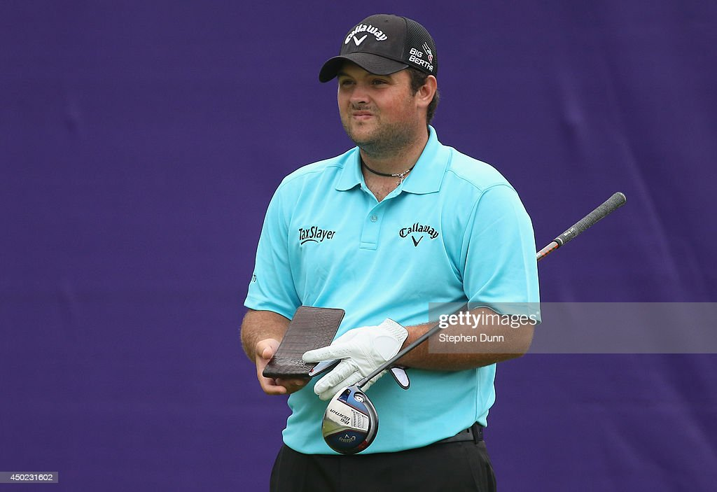 Patrick Reed waits to hit his tee shot on the first hole during the continuation of the second round of the FedEx St. Jude Classic at the TPC Southwind on June 7, 2014 in Memphis, Tennessee.