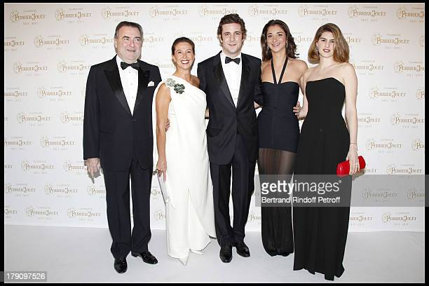 Patrick Ricard and wife Corinne with their children Paul Charles and Lorraine Madame Paul Charles Ricard at The Perrier Jouet Bicentenary Celebration...