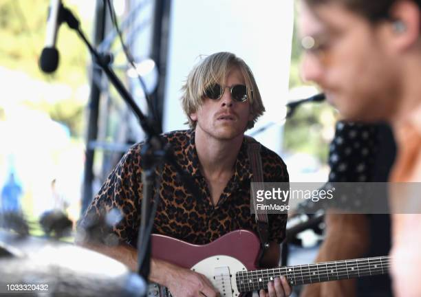 Patrick Riley of Tennis performs on the Paper Stage during day 1 of Grandoozy on September 14 2018 in Denver Colorado