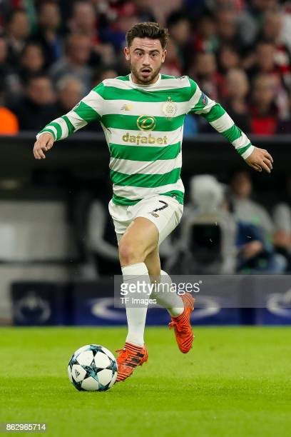 Patrick Roberts of Celtic controls the ball during the UEFA Champions League group B match between Bayern Muenchen and Celtic FC at Allianz Arena on...