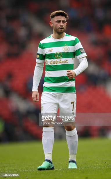 Patrick Roberts of Celtic during the Scottish Cup Semi Final between Rangers and Celtic at Hampden Park on April 15 2018 in Glasgow Scotland