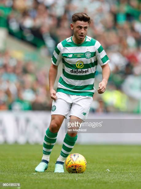 Patrick Roberts of Celtic is seen during the Scott Brown testimonial match between Celtic and Republic of Ireland XI at Celtic Park on May 20 2018 in...