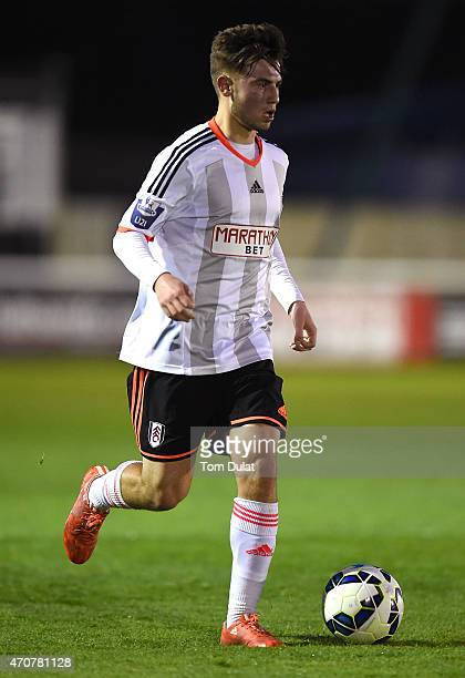 Patrick Roberts of Fulham U21 in action during the Barclays U21 Premier League International Cup Semi Final match between Fulham U21 and FC Porto U21...