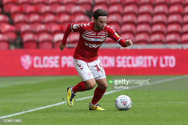 Patrick Roberts of Middlesbrough during the Sky Bet Championship match between Middlesbrough and Bristol City at the Riverside Stadium,...