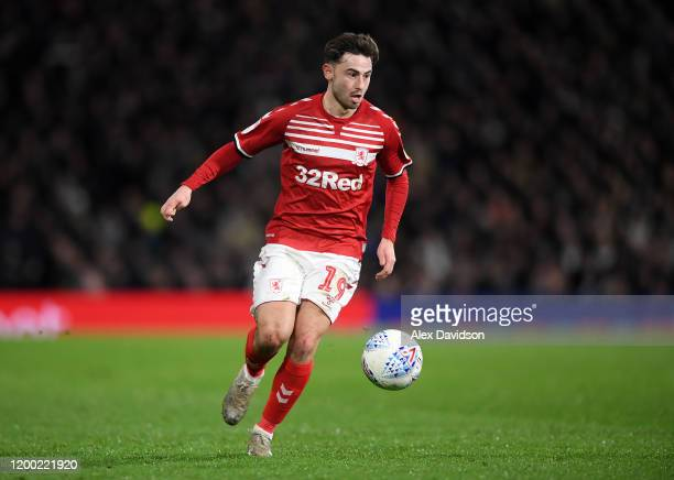Patrick Roberts of Middlesbrough in action during the Sky Bet Championship match between Fulham and Middlesbrough at Craven Cottage on January 17,...