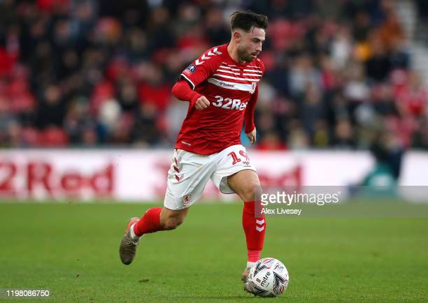 Patrick Roberts of Middlesbrough runs with the ball during the FA Cup Third Round match between Middlesbrough and Tottenham Hotspur at Riverside...
