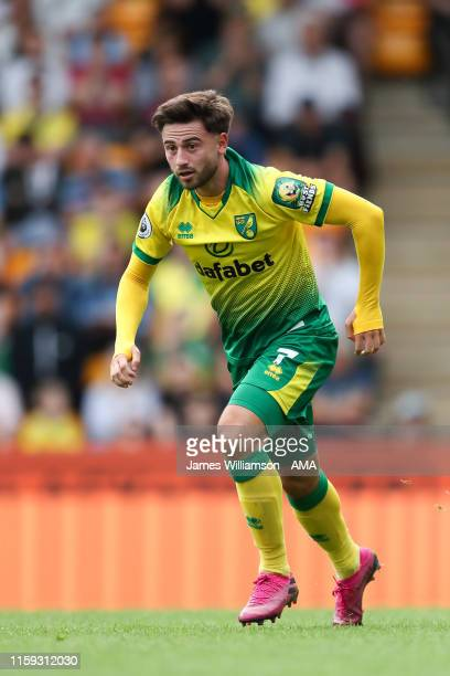 Patrick Roberts of Norwich City during a pre-season friendly between Norwich City and Toulouse at Carrow Road on August 3, 2019 in Norwich, England.