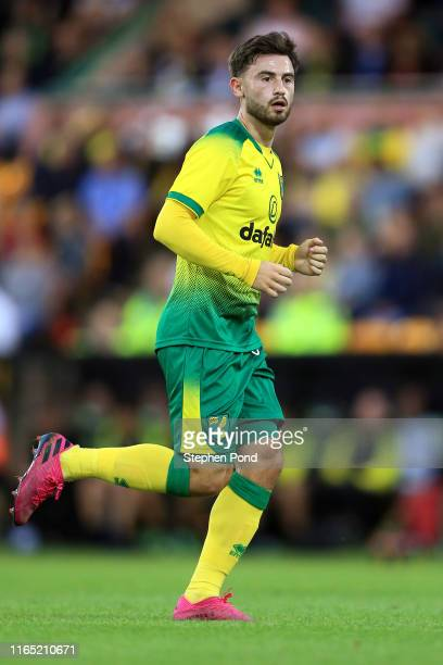 Patrick Roberts of Norwich City during the pre-season Friendly match between Norwich City and Atalanta at Carrow Road on July 30, 2019 in Norwich,...