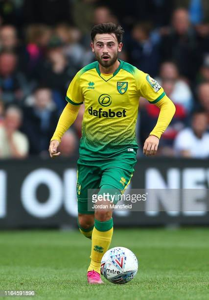 Patrick Roberts of Norwich City in action during the Pre-Season Friendly match between Luton Town and Norwich City at Kenilworth Road on July 27,...