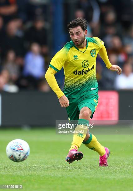 Patrick Roberts of Norwich City in action during the PreSeason Friendly match between Luton Town and Norwich City at Kenilworth Road on July 27 2019...