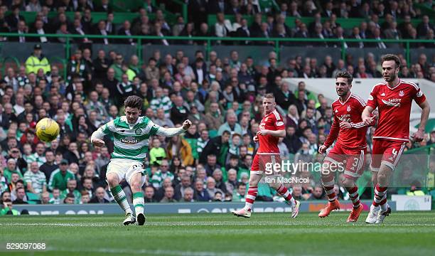 Patrick Roberts scores his second goal of the game during the Ladbroke Scottish Premiership match between Celtic and Aberdeen at Celtic Park on May...