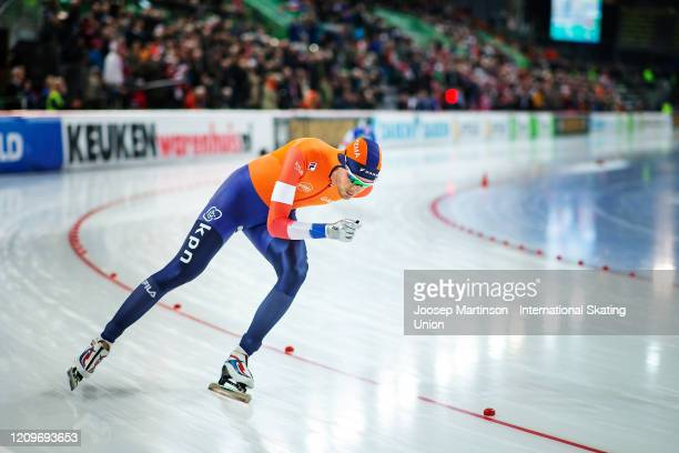 Patrick Roest of Netherlands competes in the Men's 10000m Allround during the Combined ISU World Sprint & World Allround Speed Skating Championships...