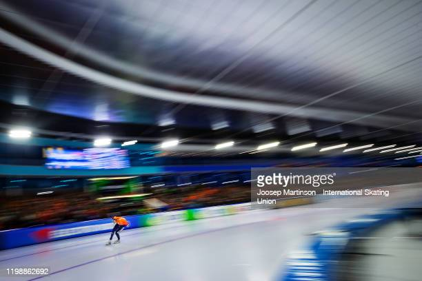 Patrick Roest of Netherlands competes in the Men's 5000m during day 2 of the ISU European Speed Skating Championships at ice rink Thialf on January...