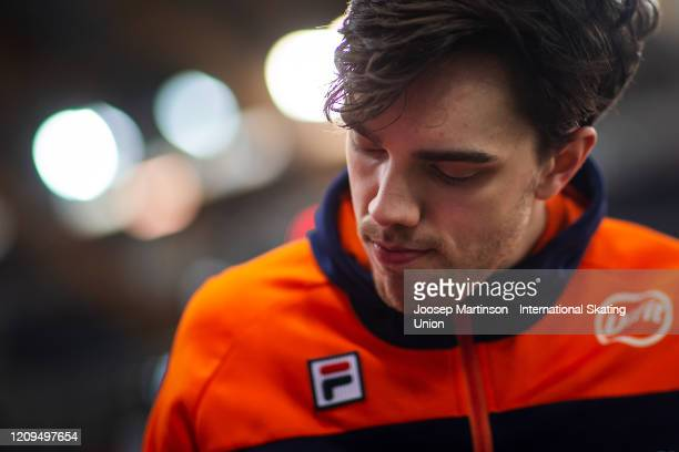 Patrick Roest of Netherlands looks on after the Men's 5000m Allround during the Combined ISU World Sprint & World Allround Speed Skating...