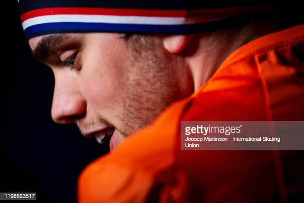 Patrick Roest of Netherlands looks on after the Men's 5000m during day 2 of the ISU European Speed Skating Championships at ice rink Thialf on...