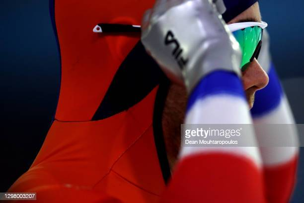 Patrick Roest of Netherlands looks on before he competes in the 1500m Mens Final during Day Two of the ISU World Cup Speed Skating at Thialf Stadium...
