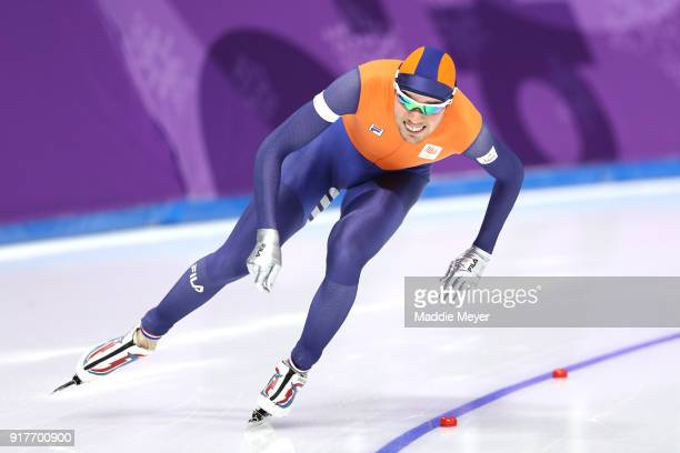 Patrick Roest of the Netherlands competes during the Men's 1500m Speed Skating on day four of the PyeongChang 2018 Winter Olympic Games at Gangneung...