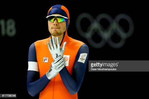 Patrick Roest of the Netherlands looks on during the Men's 1500m Speed Skating on day four of the PyeongChang 2018 Winter Olympic Games at Gangneung...