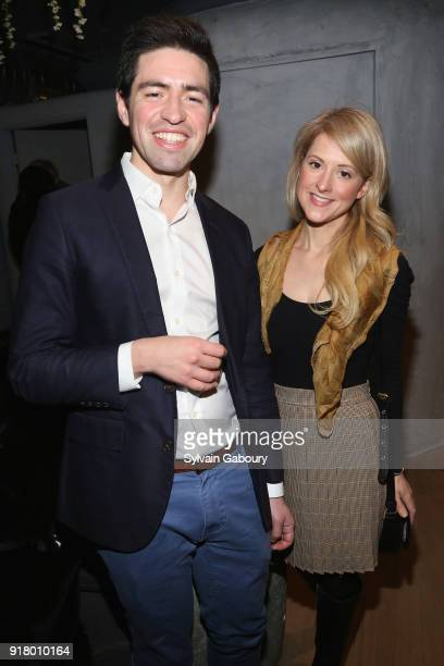 Patrick Rolandelli and Antoinette Deluca attend AVENUE Celebrate its two Newest Contributing Editors Nina Griscom and Anthony HadenGuest on February...