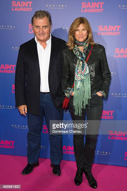 Patrick Rotman and Florence Pernel attend the 'Saint Laurent' at Centre Pompidou on September 23 2014 in Paris France