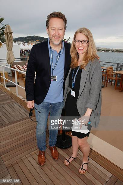 Patrick Roy and Christina Kubacki attend the TIFF and OMDC Cannes 2016 cocktail party at the annual 69th Cannes Film Festival at Plage des Palmes on...