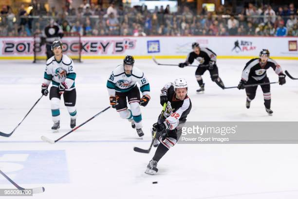 Patrick Ruiz of Nordic Vikings in action during the Mega Ice Hockey 5s International Elite Final match between Nordic Vikings and Cathay Flyers on...