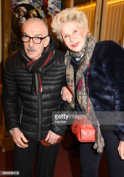 Patrick Scemama and his wife Daniele Gilbert attend Gala D'Enfance Majuscule 2017 Charity Gala At Salle Gaveau on March 20 2017 in Paris France