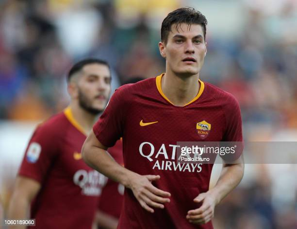 Patrick Schick of AS Roma looks on during the Serie A match between AS Roma and UC Sampdoria at Stadio Olimpico on November 11 2018 in Rome Italy