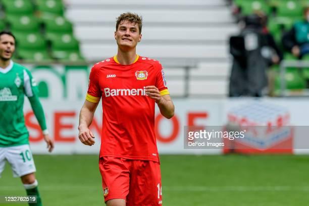 Patrick Schick of Bayer 04 Leverkusen looks on during the Bundesliga match between SV Werder Bremen and Bayer 04 Leverkusen at Wohninvest...