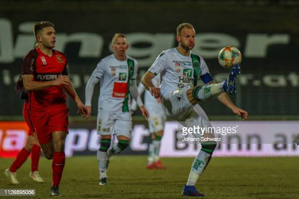 Patrick Schmidt of Admira and Matthias Maak of Innsbruck during the tipico Bundesliga match between FC Admira Wacker and FC Wacker Innsbruck at BSFZ...