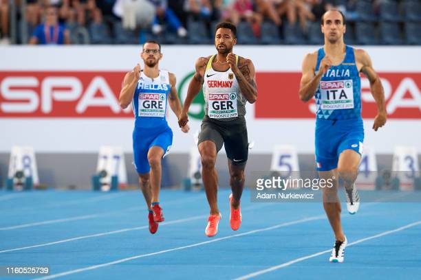 Patrick Schneider from Germany competes in mens 400 meters while European Athletics Team Championships Super League Bydgoszcz 2019 - Day One at...
