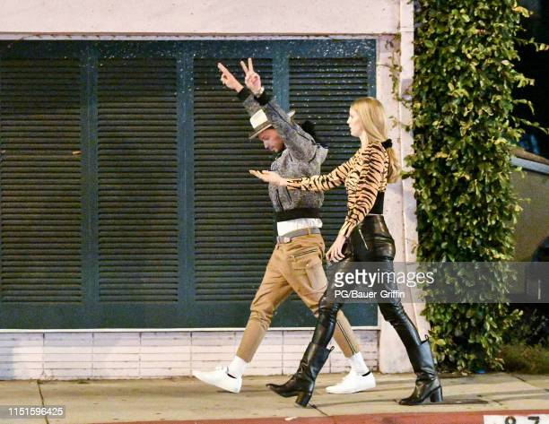 Patrick Schwarzenegger and Abby Champion are seen on June 22 2019 in Los Angeles California