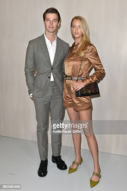 Patrick Schwarzenegger and Abby Champion arrive at Hammer Museum Gala in the Garden on October 14 2017 in Westwood California