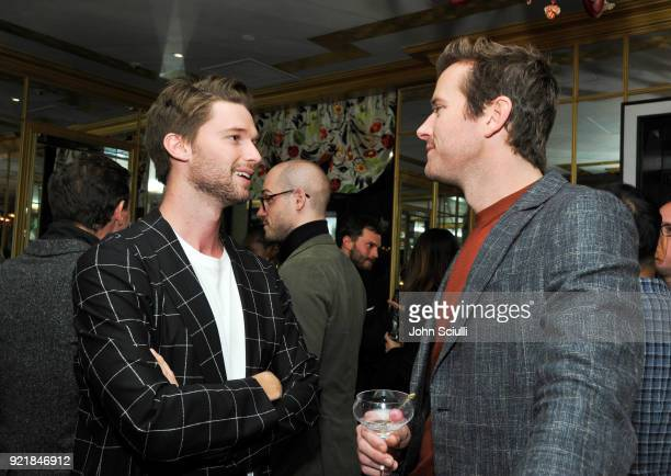Patrick Schwarzenegger and Armie Hammer attend GQ and Oliver Peoples Celebrate Timothee Chalamet March Cover Dinner at Nomad Los Angeles on February...