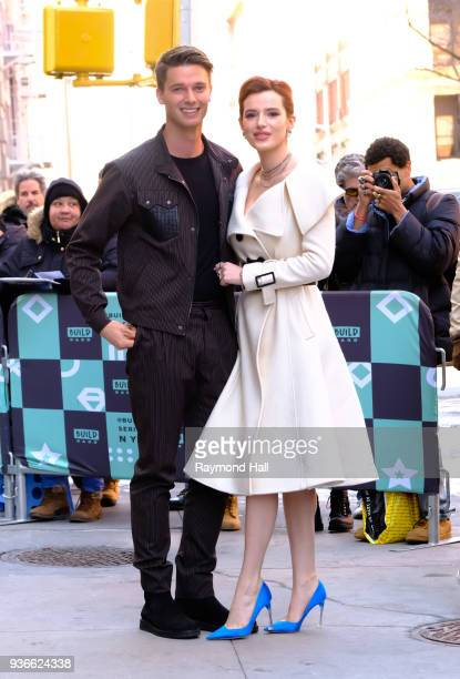 Patrick Schwarzenegger and Bella Thorne are seen in NoHo on March 22 2018 in New York City