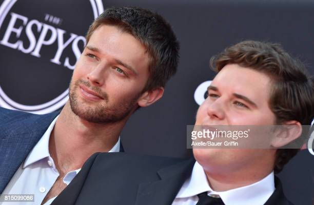 Patrick Schwarzenegger and Christopher Schwarzenegger arrive at the 2017 ESPYS at Microsoft Theater on July 12 2017 in Los Angeles California