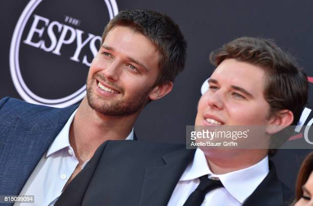 Patrick Schwarzenegger and Christopher Schwarzenegger arrive at the 2017 ESPYS at Microsoft Theater on July 12, 2017 in Los Angeles, California.