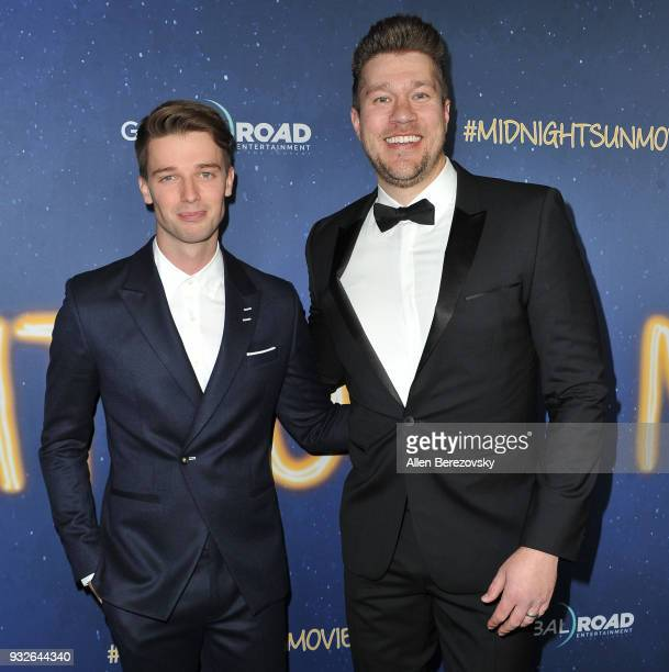 Patrick Schwarzenegger and director Scott Speer attend the Global Road Entertainment's World Premiere of 'Midnight Sun' at ArcLight Hollywood on...