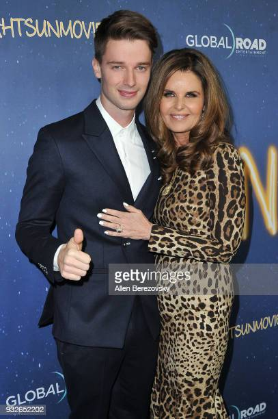 Patrick Schwarzenegger and Maria Shriver attend the Global Road Entertainment's World Premiere of Midnight Sun at ArcLight Hollywood on March 15 2018...