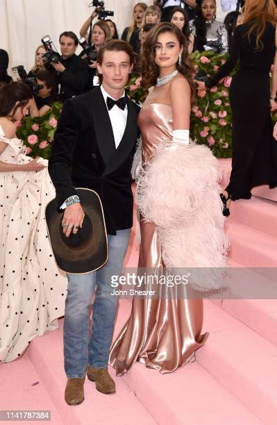 Patrick Schwarzenegger and Taylor Hill arrive at the 2019 Met Gala Celebrating Camp: Notes On Fashion at The Metropolitan Museum of Art on May 6,...