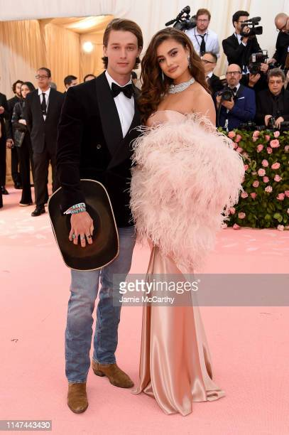Patrick Schwarzenegger and Taylor Hill attend The 2019 Met Gala Celebrating Camp Notes on Fashion at Metropolitan Museum of Art on May 06 2019 in New...