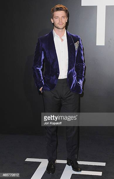 Patrick Schwarzenegger arrives at Tom Ford Autumn/Winter 2015 Womenswear Collection Presentation at Milk Studios on February 20 2015 in Los Angeles...