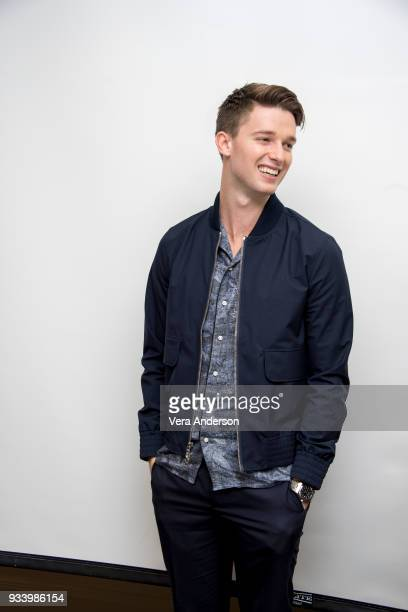 Patrick Schwarzenegger at the Midnight Sun Press Conference at the Four Seasons Hotel on March 15 2018 in Beverly Hills California