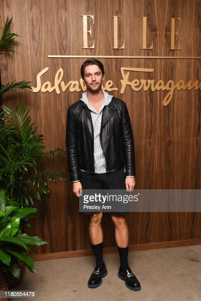 Patrick Schwarzenegger attends ELLE x Ferragamo Hollywood Rising Party at Sunset Tower on October 11 2019 in Los Angeles California