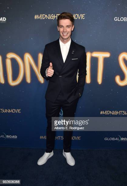 Patrick Schwarzenegger attends Global Road Entertainment's world premiere of 'Midnight Sun' at ArcLight Hollywood on March 15 2018 in Hollywood...