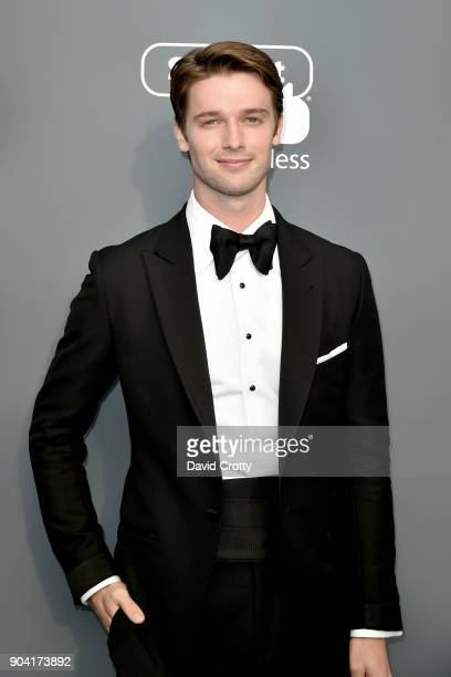 Patrick Schwarzenegger attends The 23rd Annual Critics' Choice Awards Arrivals at The Barker Hanger on January 11 2018 in Santa Monica California