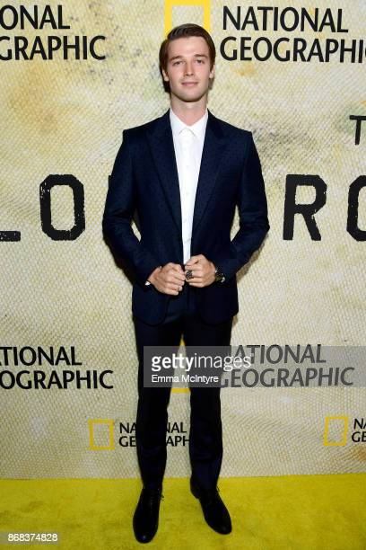 Patrick Schwarzenegger attends the premiere of National Geographic's 'The Long Road Home' at Royce Hall on October 30 2017 in Los Angeles California